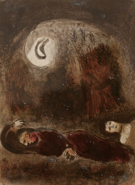 Chagall Ruth originale Farblithographie