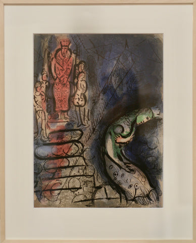 Chagall Assuérus chasse Vasthi original Farblithographie