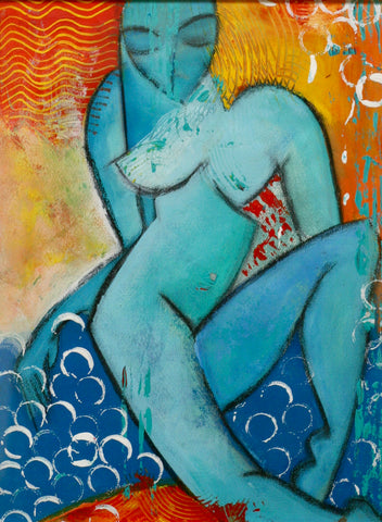 Charles Sambono - Lady in blue