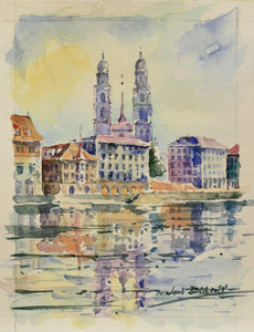 Grossmünster Aquarell