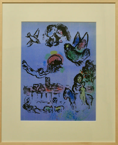 Marc Chagall - Nacht in Vence Farblithographie