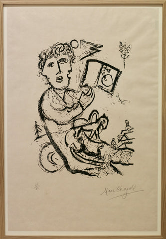 Marc Chagall - The artist with the book