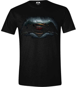 Batman V Superman - Logo Black (T-Shirt Unisex Tg. L) - Wigashop