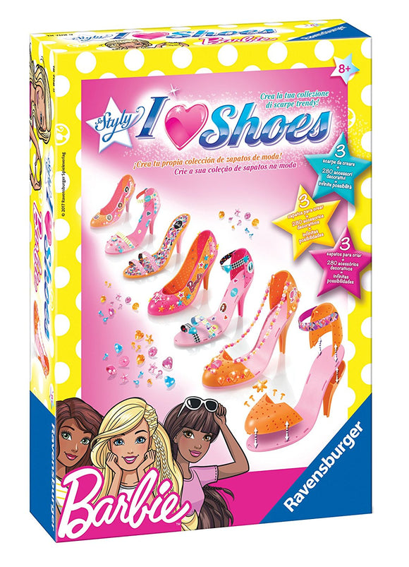 Ravensburger 18708 - So Styly - I Love Shoes- Barbie, Ravensburger, Wigashop