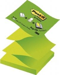 3M Post-it - 100 Foglietti Per Dispenser Z-notes - Colori Verde Alternato Pastello E Neon (12 Pz) - Wigashop