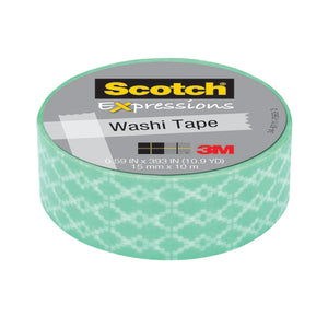 3M Post-it - Nastro Decorativo Scotch Washi Expressions Greche Azzurre E Bianche - Wigashop