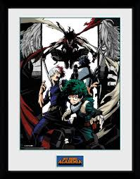 My Hero Academia - Heroes And Villains (Stampa In Cornice 30x40cm), Wigashop, Wigashop