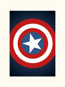 Avengers Assemble - Captain America Shield (Stampa 30X40 Cm), Pyramid, Wigashop