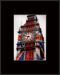 Big Ben - Union Jack (Stampa In Cornice 10X8), Pyramid, Wigashop