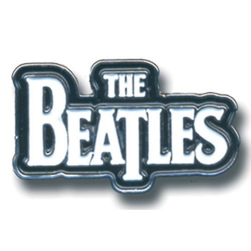 Beatles (The) - Medium Drop T Logo White (Spilla Badge), Rock Off, Wigashop