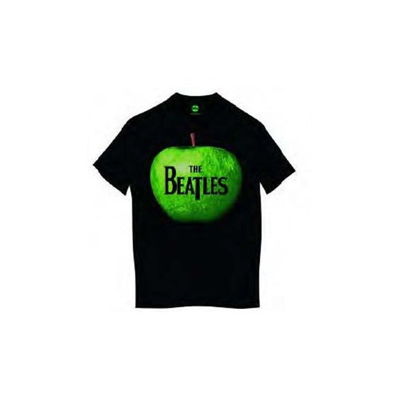 Beatles (The) - Apple Black (T-Shirt Unisex Tg. M) - Wigashop