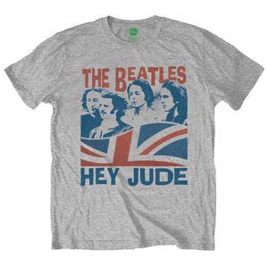 Beatles (The) - Windswept/Hey Jude Grey (T-Shirt Unisex Tg. S) - Wigashop