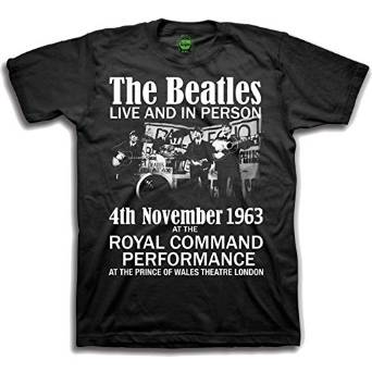 Beatles (The) - Live & In Person Black (T-Shirt Bambino Tg. XL) - Wigashop