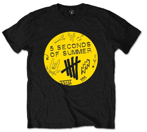 5 Seconds Of Summer - Scribble Logo (T-Shirt Unisex Tg. L) - Wigashop