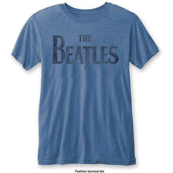 Beatles (The) - Drop T Logo Blue (T-Shirt Unisex Tg. M), Rock Off, Wigashop