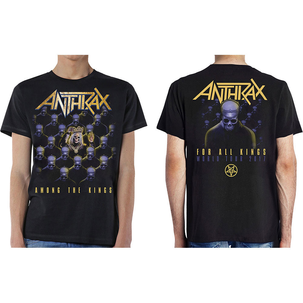Anthrax - Among The Kings (With Back Print) (T-Shirt Unisex Tg. S), Rock Off, Wigashop