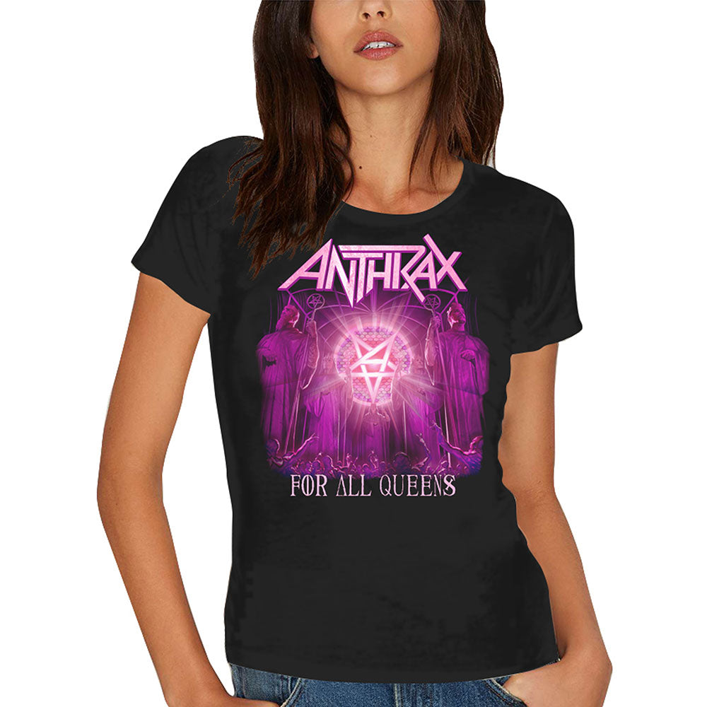 Anthrax - For All Queens (Skinny Fit) (T-Shirt Donna Tg. L), Rock Off, Wigashop