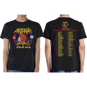 Anthrax - Wardance Pale Ale (With Back Print) (T-Shirt Unisex Tg. XL), Rock Off, Wigashop