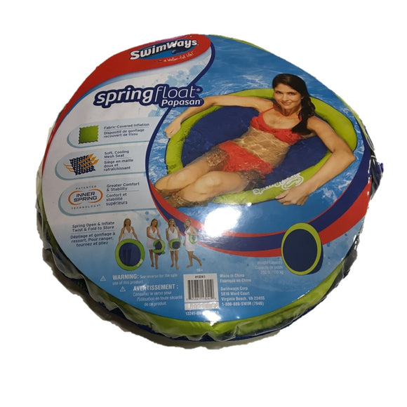 Swimways - Spring Float - Materassino Gonfiabile In Stile Papasan (Assortimento), SwimWays, Wigashop