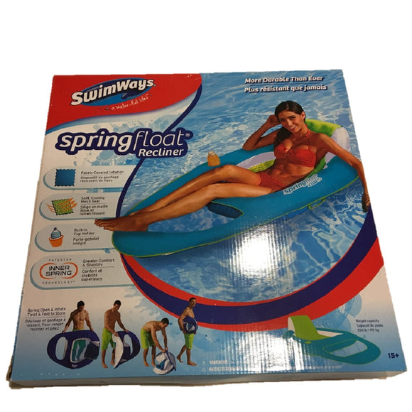 Swimways - Spring Float - Materassino Gonfiabile Con Schienale (Assortimento), SwimWays, Wigashop