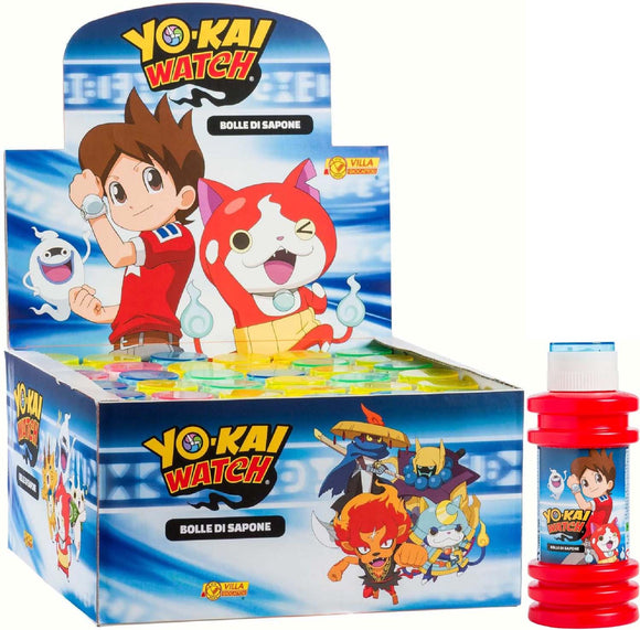 Display 16 Pz - Bolle Giganti - Yo-Kai Watch Flacone 175 Ml, Villa Giocattoli, Wigashop