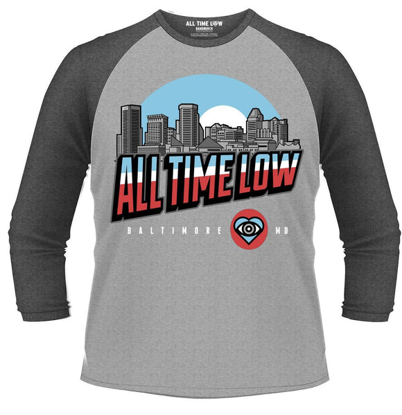 All Time Low - Baltimore (T-Shirt Manica 3/4 Tg. M) - Wigashop