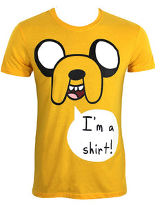 Adventure Time - I'm A Shirt Yellow (T-Shirt Unisex Tg. XL) - Wigashop