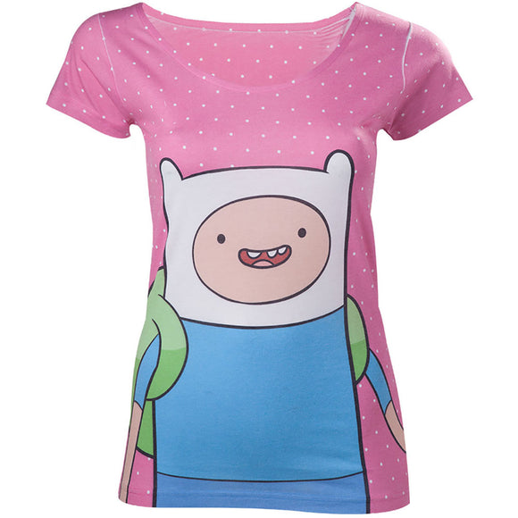 Adventure Time - Dotted Screen Printed (T-Shirt Donna Tg. XL) - Wigashop