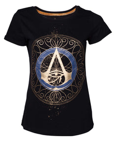 Assassin'S Creed - Empire Gold Spaller Logo Black (T-Shirt Donna Tg. XL), Bioworld, Wigashop
