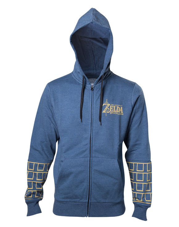 Zelda Breath Of The Wild - Gold Game Logo (Felpa Con Cappuccio Unisex Tg. L), Bioworld, Wigashop