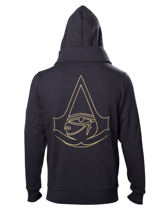 Assassin'S Creed Origins – Crest Logo Double Layered Black (Felpa Con Cappuccio Unisex Tg. 3XL), Bioworld, Wigashop