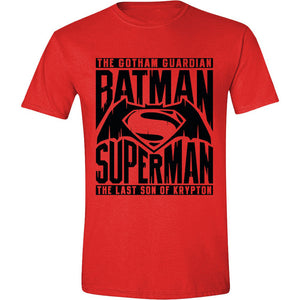 Batman V Superman - Logo Text Red (T-Shirt Unisex Tg. M) - Wigashop