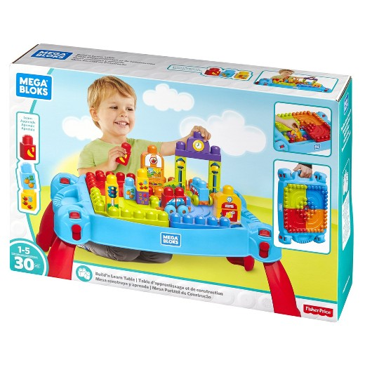 Mega Bloks FGV05 - First Builders - Tavolino Multi Attivita' 3 In 1 (New), Mega Bloks, Wigashop