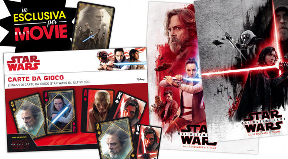 Star Wars – Gli ultimi Jedi - Carte da Gioco + Poster, Best Movie, Wigashop