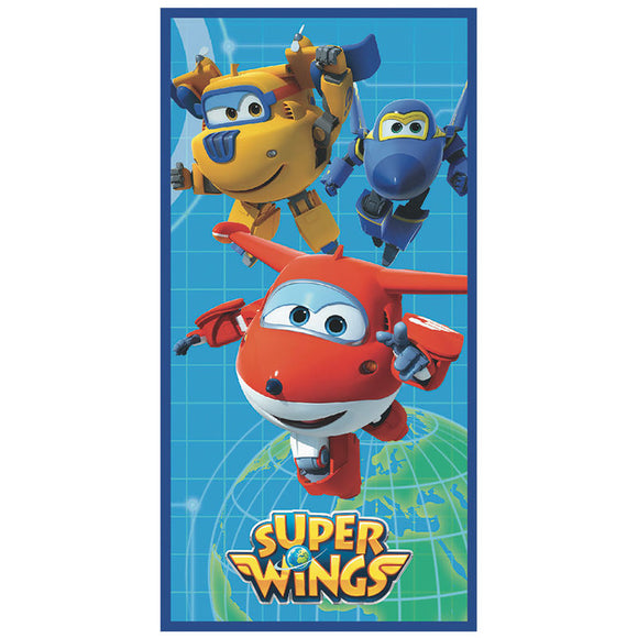 SUPER WINGS WORLD TELO MARE ASCIUGAMANO SPIAGGIA 70 X 140 MICROFIBRA - Wigashop