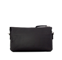 London - Skuldertaske i skind, clutch, Sort