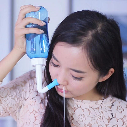Nasal Irrigation Cleaning Device With Water Flow Control Switch + Cleaning Salt - blackfridaily