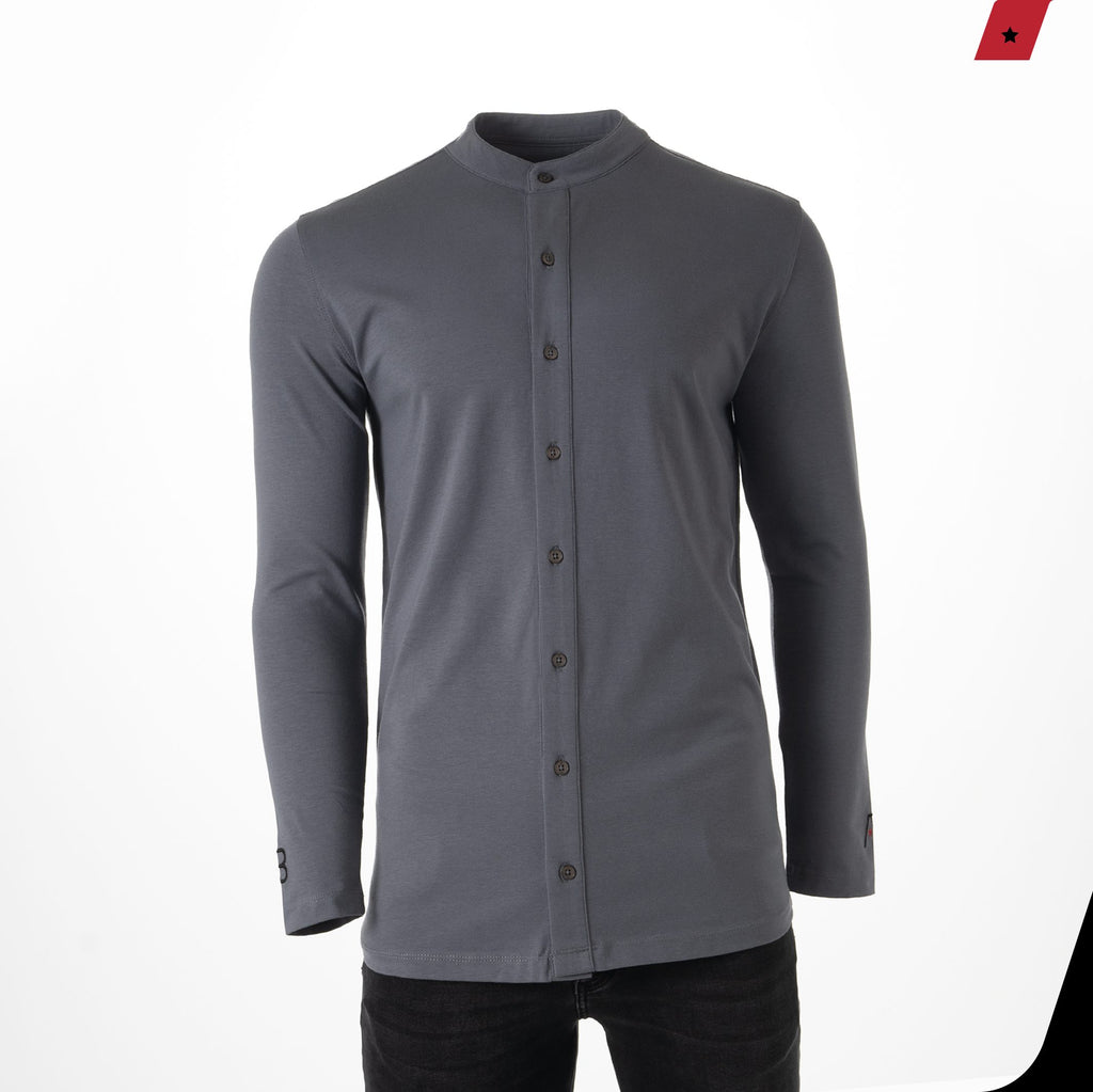 AB Lifestyle Button Up Grey bij Konceptstore.nl