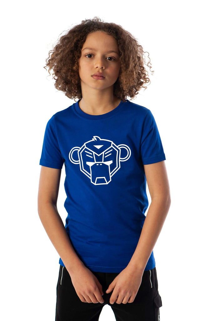 Black Bananas Kids Basic monkey 'GRANDE' T-shirt Cobalt Blauw
