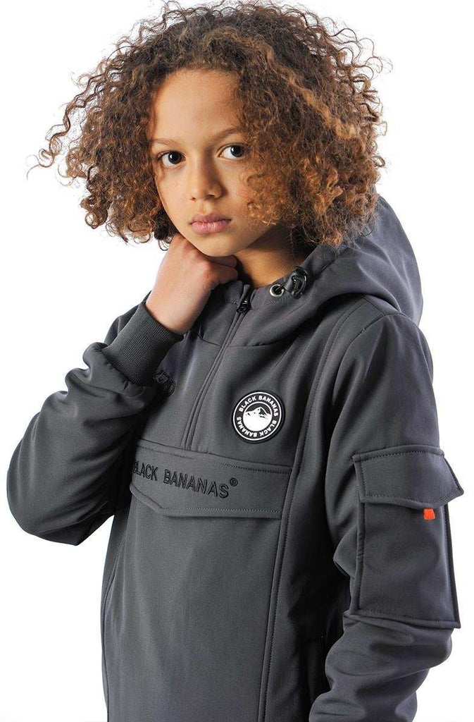 Black Bananas KIDS F.C. Anorak Fleece Jacket Grijs