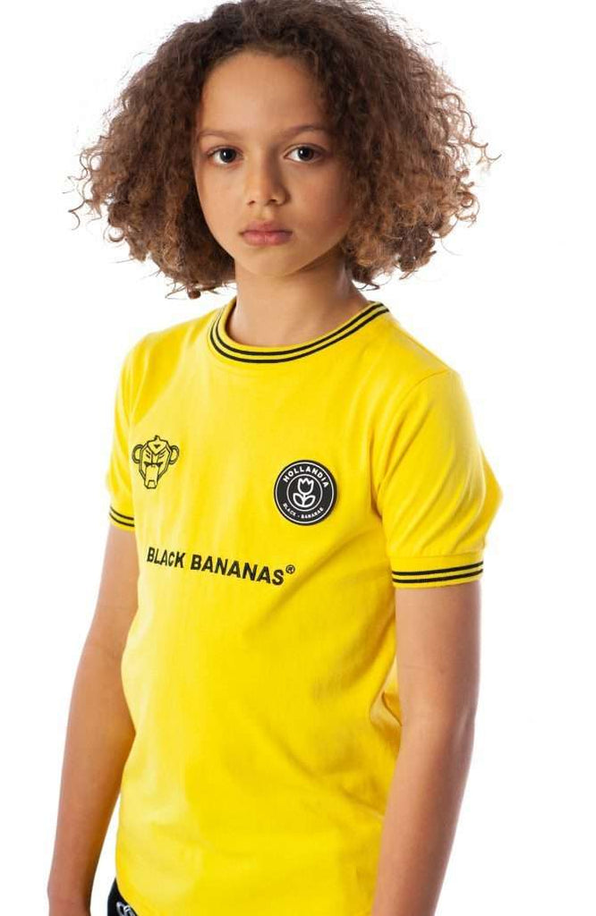 Black Bananas Kids F.C. Luxury T-shirt Geel