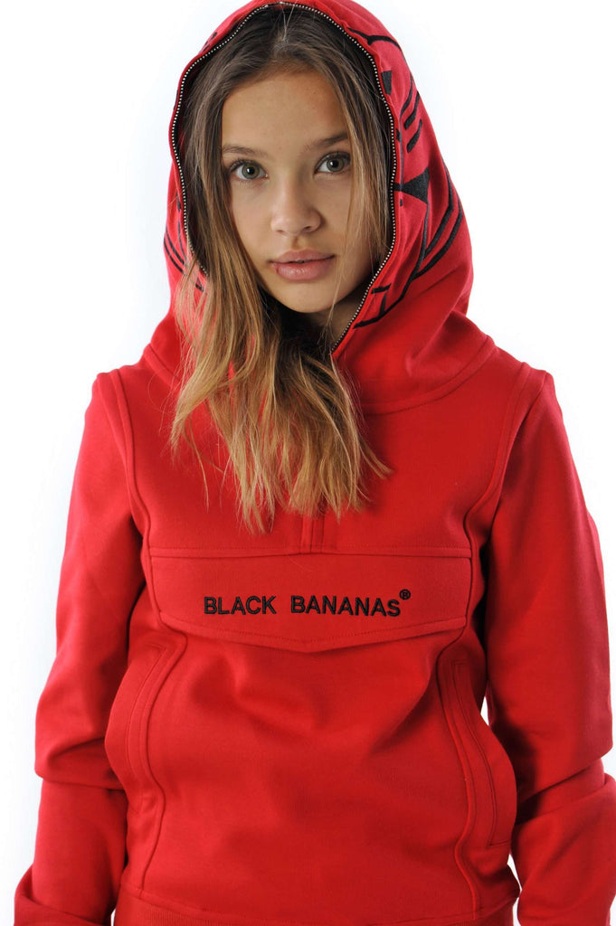 Black Bananas KIDS Incognito Hoodie Rood