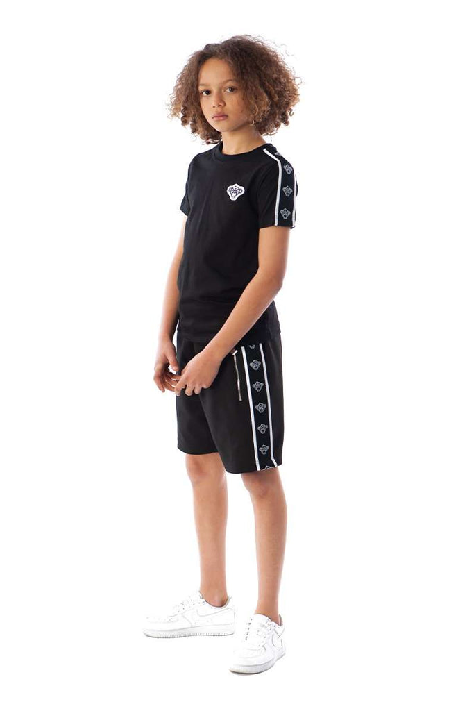 Black Bananas Kids Taped Short Black