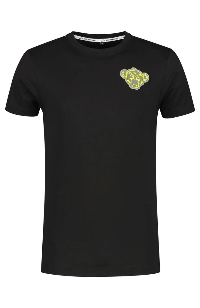 Black Bananas T-shirt Porto Patch Zwart / Geel
