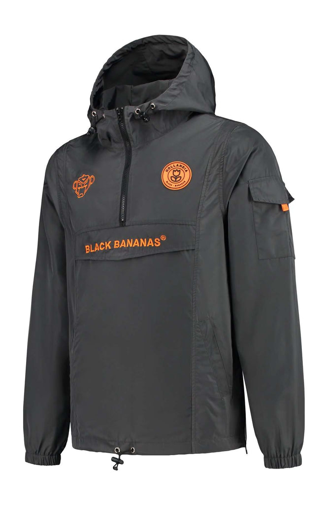 Black Bananas Windbreaker Anorak Grijs