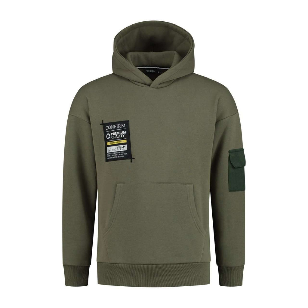 Confirm Hoodie Pocket Label Army