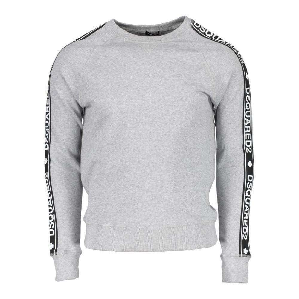 DSQUARED2 sweater logo tape grijs