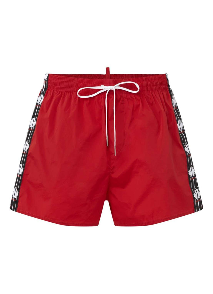 Dsquared2 zwembroek Logo Tape Rood