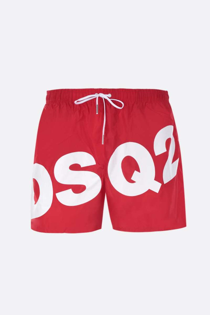 Dsquared2 zwembroek wit D2 op rood