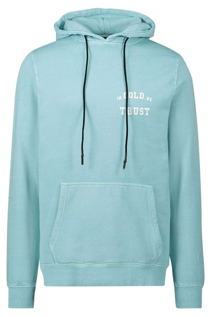 In Gold We Trust hoodie fair aqua